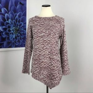 Soft Surroundings Burgundy Marled Sequin Pullover